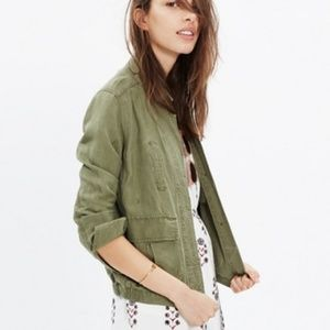 Madewell Olive Green League Cargo Jacket S